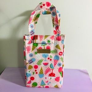 Insulated Food Cooler Bag Pink Ice-cream Design